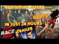 RACE 3 TRAILER BREAKS BAAHUBALI 2 HINDI TRAILER LIFETIME LIKES RECORD IN JUST 18 HOURS