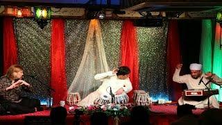 Santoor- Flute/Bansuri -Tabla Trio at The Music Room [Saiyan bina ghar sunna ( Pahadi Dhun)]