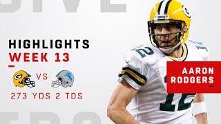 Aaron Rodgers Highlights (Week 13) | Packers vs. Lions | NFL