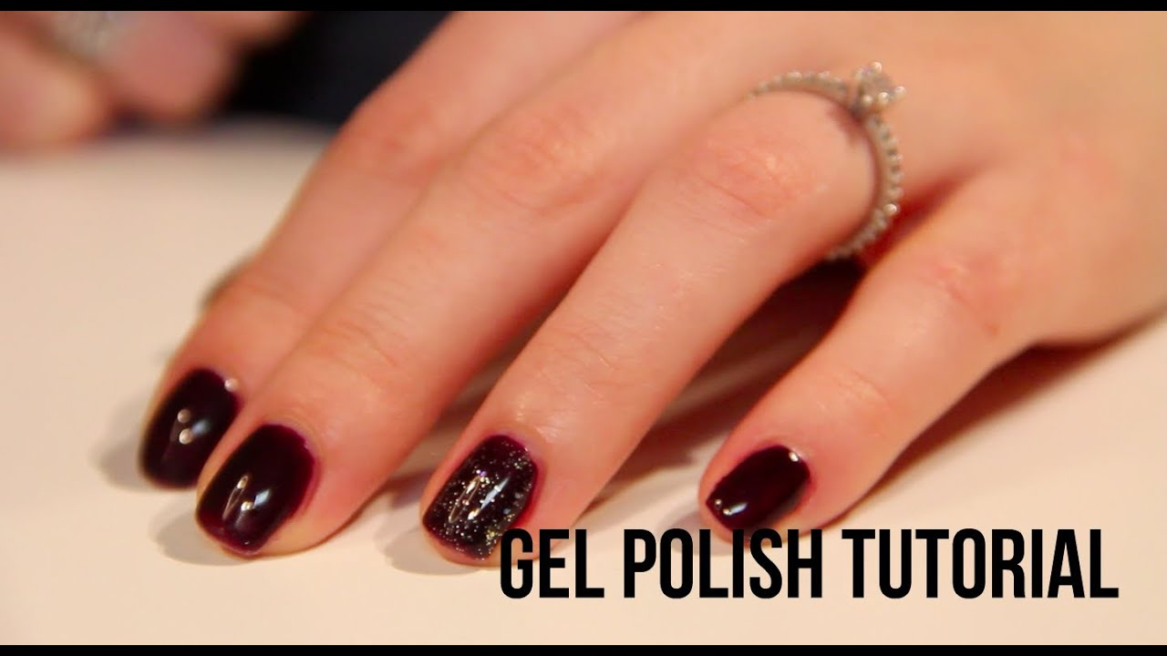 Nail Tutorial: Gel Dark Purple Vamp Nails (Gelish) | Ellie Cher ...