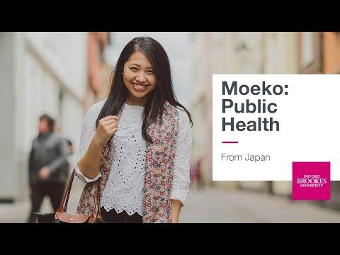 Moeko, from Japan studying Public Health
