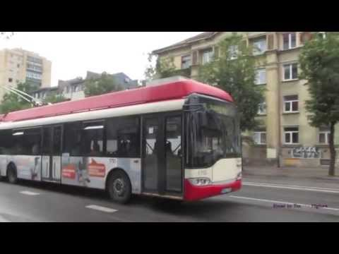 Trolleybuses in Vilnius, Lithuania.. Троллейбусы в Вильнюсе, Литва