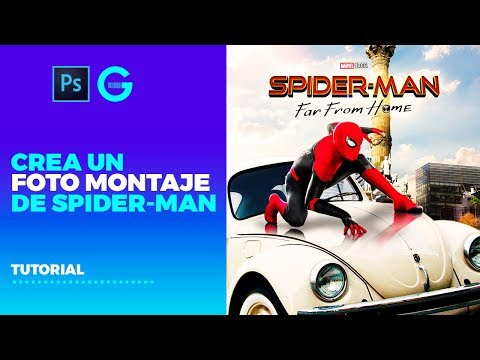 Photoshop Tutorial | Foto Montaje Spider-Man: Far From Home | Poster Spider-Man thumbnail