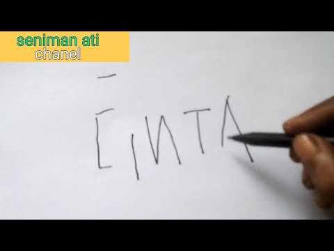 Kaligrafi Di Balik Kata Cinta Youtube