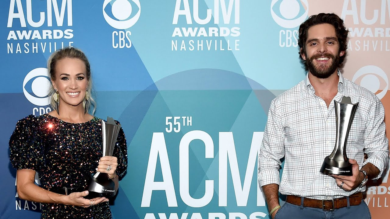 Carrie Underwood and Thomas Rhett tied at the ACM Awards, and ...