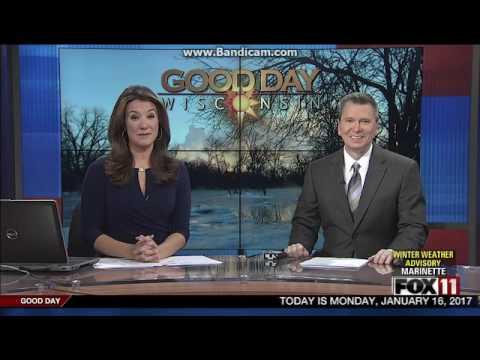 "WLUK Fox 11 News ""Good Day Wisconsin"" at 4:30am open January 16, 2017"