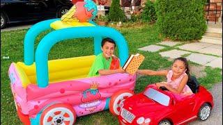 تلعب  العملاقة السيارة مع الفاكهة بوظة Heidi و Zidane