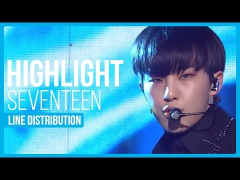 Seventeen - Highlight (OT13 Version) Line Distribution (Color Coded)