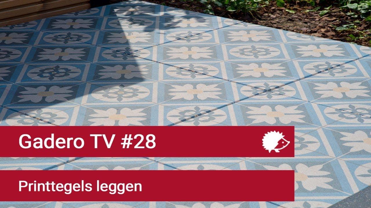 Tegels Leggen Tuin : Print tegels voor buiten leggen in de tuin youtube