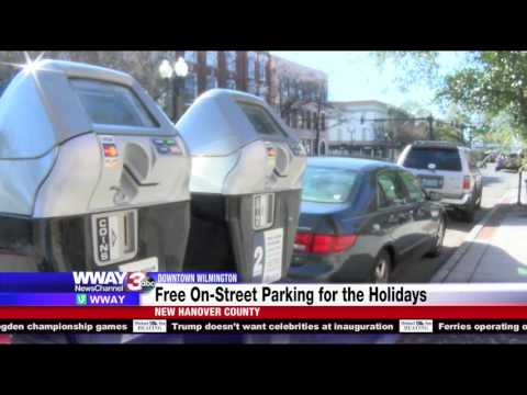 Downtown Wilmington provides free on-street parking for the