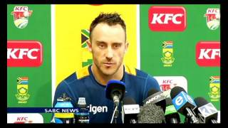 Faf du Plessis confident of his T20 squad