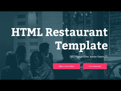 Free Bootstrap Restaurant Template - YouTube
