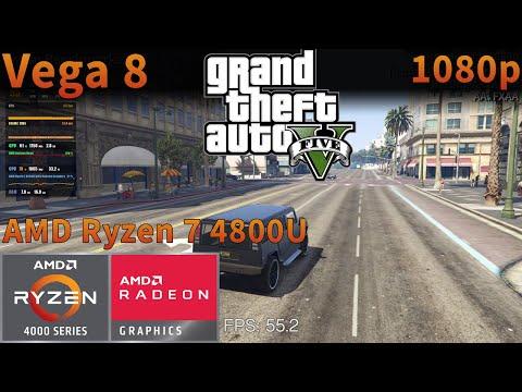 Grand Theft Auto V Gta 5 Amd Ryzen 7 4800u Apu Vega 8 1080p Settings Tested Youtube