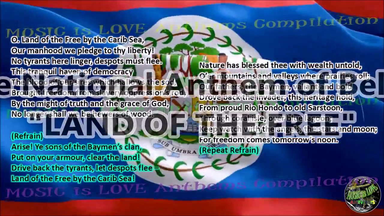Belize national anthem land of the free with music vocal and belize national anthem land of the free with music vocal and lyrics english biocorpaavc Image collections
