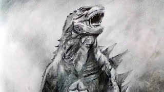 Drawing Godzilla [HD] | Godzilla: King of the Monsters (2019) | Graphite Pencil Sketch | Pencil Glue