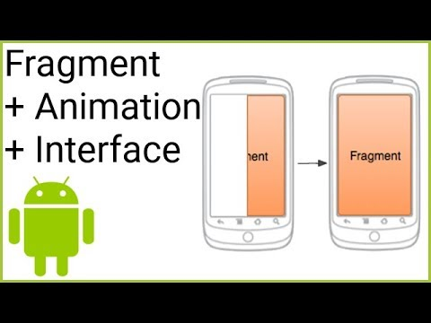 Open a Fragment with an Animation + Communicate with Activity - Android  Studio Tutorial