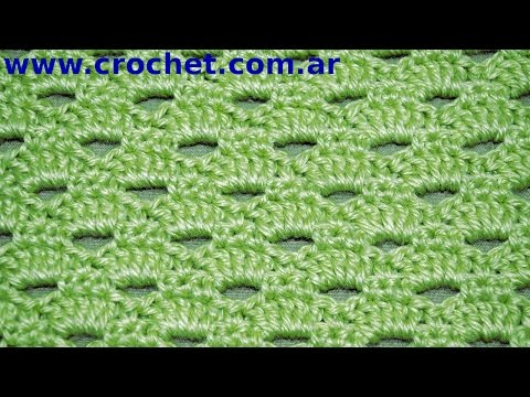 ... video: Punto Fantas?a N? 53 en tejido crochet tutorial paso a paso