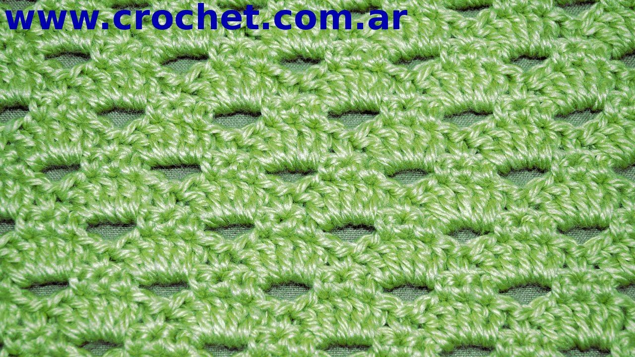 a9882806 PUNTO fantasía a #crochet o ganchillo N° 53 (tutorial paso a paso). Moda a  Crochet - YouTube