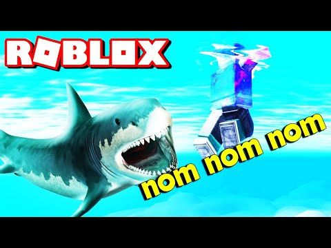 Roblox Swimming With Sharks! Scuba Diving Let's Play Video