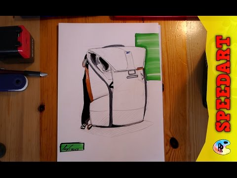 Rucksack Konezept Design - Backpack Industrial / product Design sketching drawing Backpack Rucksack