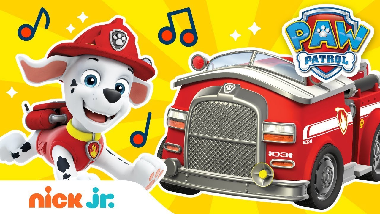 Download Sing Along to 'Hurry, Hurry, Drive the Fire Truck' ft. Marshall 🚒 | Sing-Along | Nick Jr.