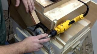 """Wooden Tool Man's  """"drum Sander"""" 13  Power Feeder"""