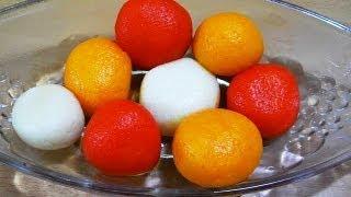 Colourful Rasgulla - Indian Bengali Milk Dessert / Sweets Recipe