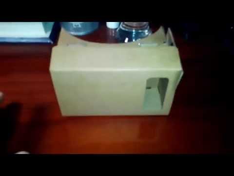 Unboxing Google cardboard