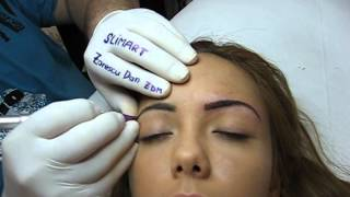 Tatuaj sprancene make up artist Zarescu Dan Clinica Slimart micropigmentare sprancene