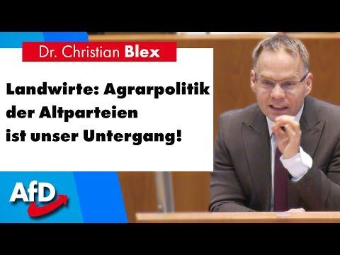 Landwirte: Agrarpolitik der Altparteien ist unser Untergang!   Dr. Christian Blex (AfD)