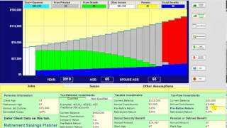 3 Retirement Software - shows how to enter basic retirement plan data