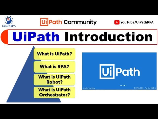 UiPath Introduction & It's Components | What is UiPath, RPA, Robot and Orchestrator | UiPathRPA
