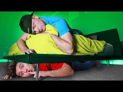 OVERNIGHT Survival Challenge in UNSPEAKABLE's House! (Preston vs Unspeakable)