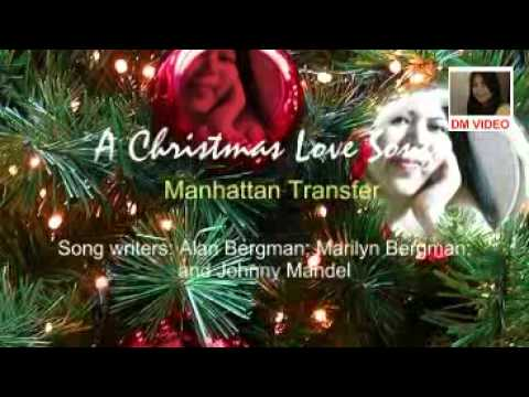 A Christmas Love Song with lyrics by Manhattan Transfer in PSP Format