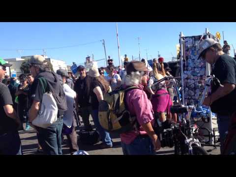 Rallye at the Port of Oakland to prevent Israeli ship from unloading its goods. August 16, 2014.