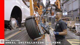 BMW Factory Wheel Installation Machine