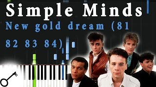 Simple Minds - New gold dream (81 82 83 84) [Piano Tutorial] Synthesia