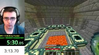 Minecraft / Any% Set Seed Speedrun / PB = 5:16.85