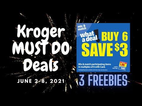 Kroger *MUST DO* Deals for 6/2-6/8 | 3 FREEBIES | *NEW* Mega Sale & More