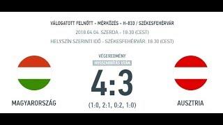 H 833 - Magyarország - Ausztria 4:3 összefoglaló