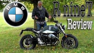BMW R nineT Review. A classic/modern opposed-twin boxer roadster motorcycle. Powerful 1170cc engine.