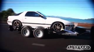 Низкорамный прицеп для перевозки легкового автомобиля
