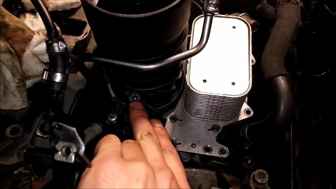 #020 замена масла в двигателе 3.0 TDI Audi