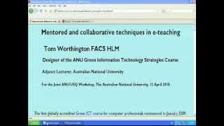 Mentored and Collaborative e-Learning for Postgraduate Professional Education
