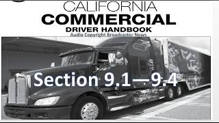 dmv cdl hand book audio calif 2017 section 9 1 9 4