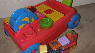Fisher price peek a boo blocks. 2 in 1 Activity Wagon walker toy
