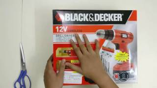 Unboxing Black and Decker EPC12 cordless drill