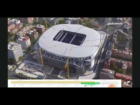 "Real Madrid New Stadium ""Santiago Bernabéu"" Construction Process From FCC"