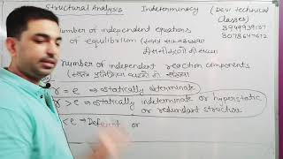 structural analysis lecture 1 indeterminacy part 1