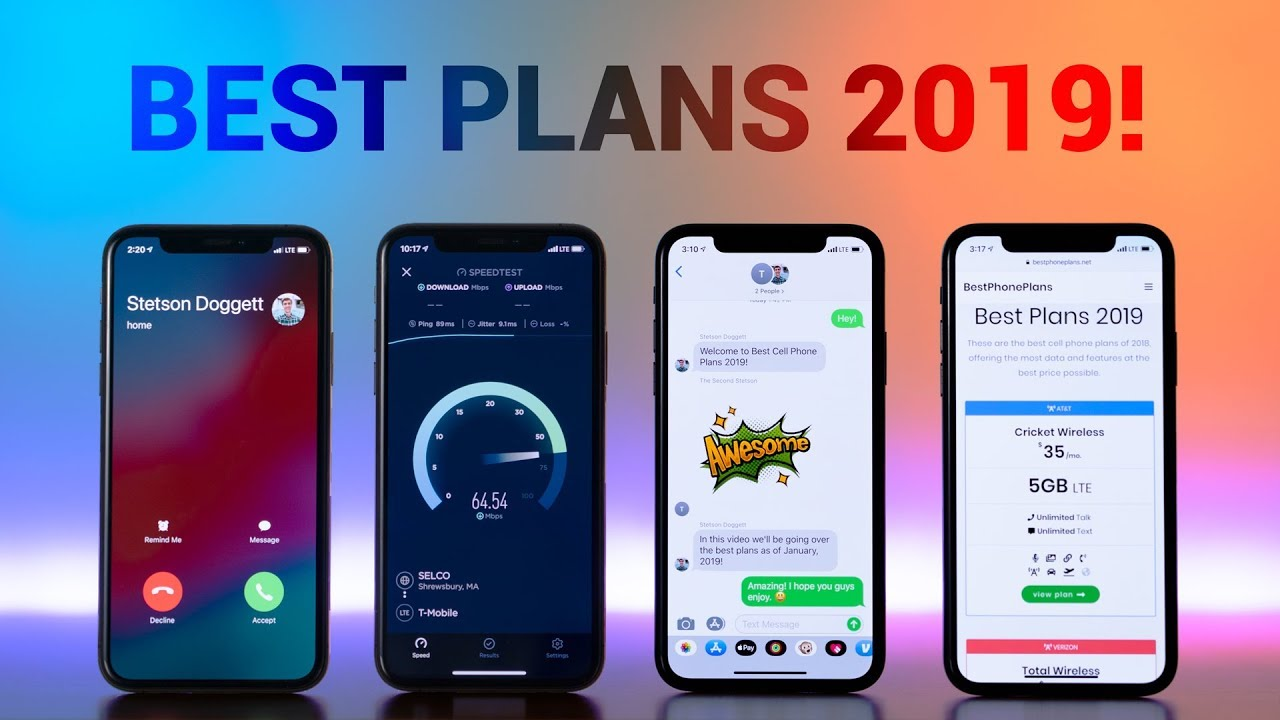 2019 Best Cell Phone Plans Best Cell Phone Plans 2019!   YouTube